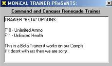 Command & Conquer Renegade (CCR) Trainer