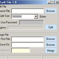 โปรแกรม แบ่งไฟล์ (Split & Merge File)