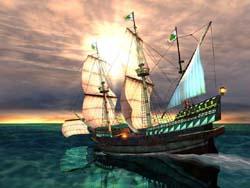 Galleon 3D Screensaver (สกรีนเซฟเวอร์ เรือโบราณ แบบสเปน)