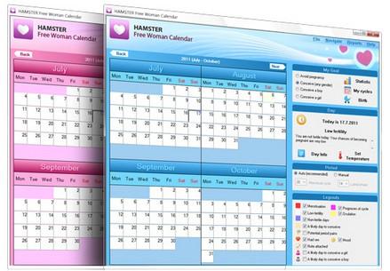 โปรแกรมปฏิทินสำหรับผู้หญิง Hamster Free Woman Calendar