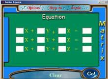 โปรแกรม แก้สมการหลายตัวแปร (Genius Equator)