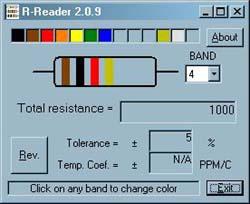 โปรแกรม อ่านค่าความต้านทาน (R-Reader)