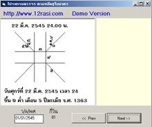 โปรแกรม สำหรับดูสมผุสดาวจร ปี พ.ศ.2545 (SRY)
