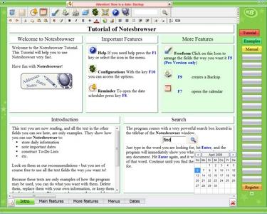 Notesbrowser (โปรแกรม Notesbrowser  บริหารตารางงาน บันทึก จัดการข้อมูลส่วนตัว) :