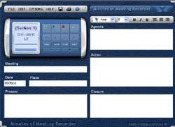 Minutes of Meeting Recorder (โปรแกรมช่วยบันทึกการประชุม) :