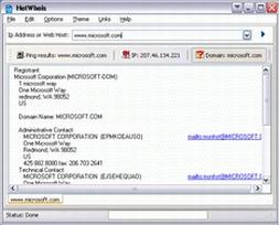 HotWhoIs (โปรแกรม ดูข้อมูลจาก IP หรือ Domain Name)
