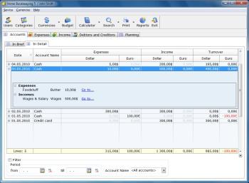 Home Bookkeeping (โปรแกรมการเงิน บริหาร รายรับรายจ่าย ในครัวเรือน)
