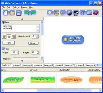 Web Buttons (โปรแกรม สร้างปุ่ม แบบสำเร็จรูป)