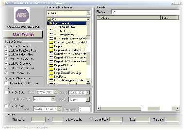 Advance File Search (โปรแกรม ค้นหาไฟล์ได้หลากหลาย รูปแบบ)