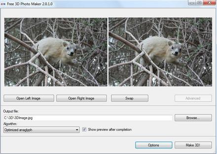 โปรแกรมทำภาพ 3 มิติ Free 3D Photo Maker