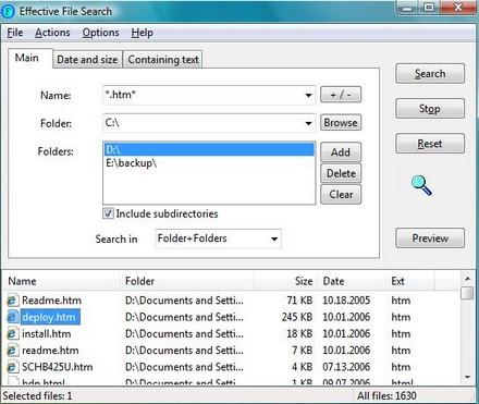 Effective File Search (โปรแกรม ช่วยค้นหาไฟล์ ในเครื่องคอมฯ)