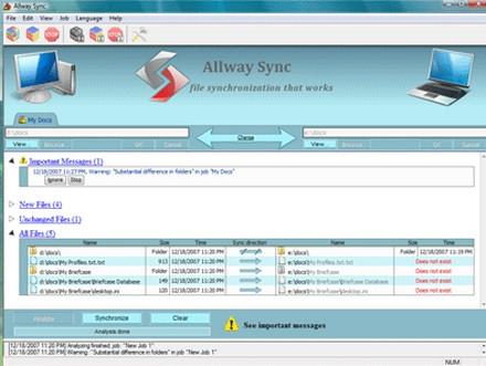 โหลดโปรแกรมสำรองข้อมูล Allway Sync
