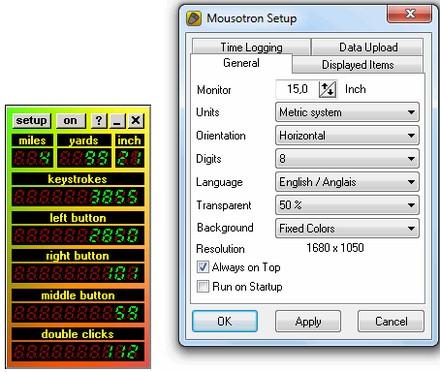 โปรแกรมเก็บสถิติการใช้เม้าส์ คีย์บอร์ด Mousotron