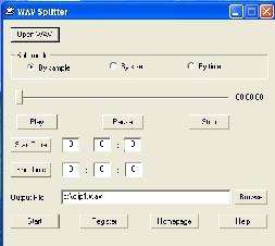 WAV Splitter (โปรแกรม ตัดไฟล์เสียง อย่าง .WAV ให้มีขนาดเล็กลง)
