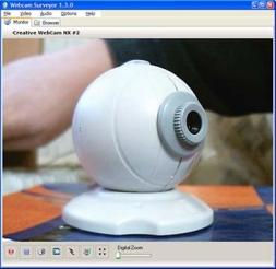 Webcam Surveyor (โปรแกรมควบคุมวีดิโอและจับภาพวีดิโอ)