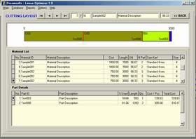 โปรแกรมคำนวณการตัดชิ้นงาน Linear Optimizer