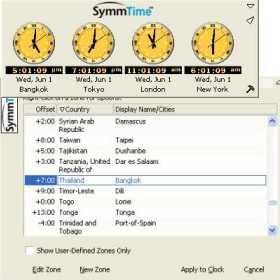 SymmTime (โปรแกรม SymmTime ดูเวลาทั่วโลก ฟรี) :