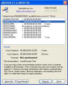 Network Time Scan: LM CHECK (โปรแกรม ตรวจสอบ ความคลาดเคลื่อนเวลา ในเครือข่าย)