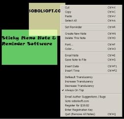 Sticky Memo Note & Reminder Software (โปรแกรม บันทึกโน๊ต เตือนความจำ)