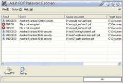 PDF Password Recovery (โปรแกรม PDF Password Recovery กู้พาสเวิร์ดไฟล์ PDF) :