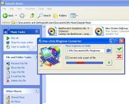 โปรแกรมแปลงไฟล์ ทำริงโทน One-click Ringtone