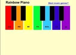 Rainbow piano for kids