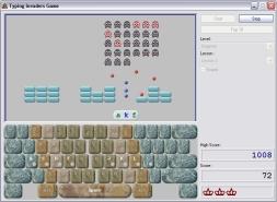 เกมส์ฝึกพิมพ์ดีด Typing Invaders
