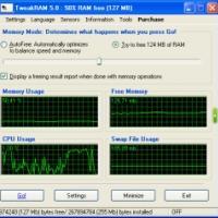 TweakRAM (โปรแกรมสำหรับจัดการกับหน่วยความจำ)