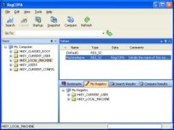RegCOPA Registry Editor