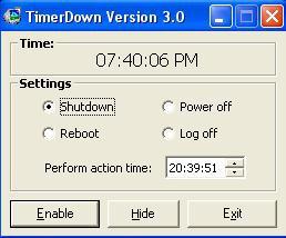 โปรแกรม ตั้งเวลา ปิดเครื่องอัตโนมัติ (Timerdown)