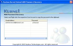 Kernel Hotmail MSN Password Recovery (โปรแกรม ช่วยกู้รหัสผ่าน ของ ฮอตเมลล์)