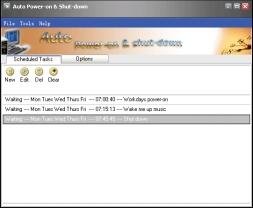 Auto Power On And Shut Down (โปรแกรมสั่งการคอมฯ อัตโนมัติ) :