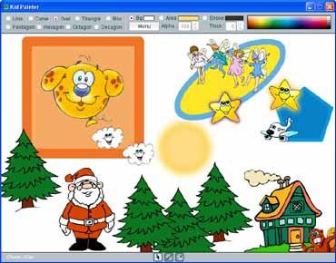 โปรแกรมวาดรูปสำหรับเด็ก Kid Painter