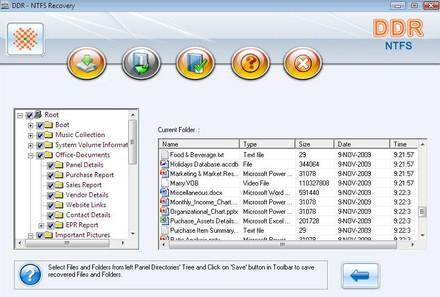 NTFS Data Recovery Software (โปรแกรม กู้ไฟล์ที่ลบไปกลับคืนมา)