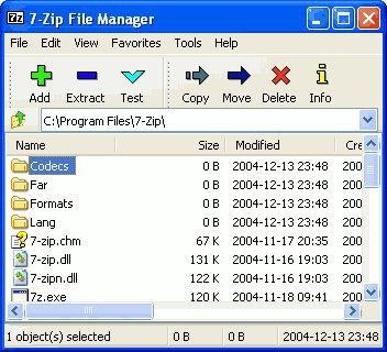 โปรแกรมบีบอัดไฟล์ 7-ZIP