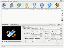 Ultra Mobile 3GP Video Converter (โปรแกรม แปลงวีดีโอ 3GP ให้เป็น Format อื่น)