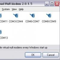 Virtual Null Modem