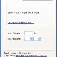 BMI Calculator (Body Mass Index)