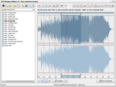 ดาวน์โหลดโปรแกรมตัดเพลง AVSRingtoneMaker