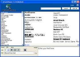 kFontViewer (โปรแกรม kFontViewer ดูรูปแบบฟอนต์ ค้นหา Font ฟรี) :