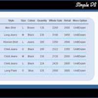 SimpleDB (โปรแกรม ระบบจัดเก็บ ข้อมูลสินค้า ทุกประเภท)