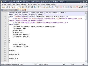 Notepad++ โปรแกรม Text-Editor