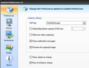 โปรแกรมจับภาพหน้าจอ Gadwin PrintScreen