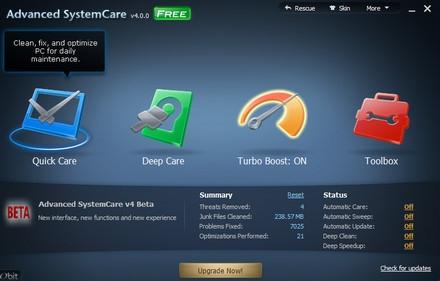IObit Advanced SystemCare (โปรแกรมดูแลเครื่อง เครื่องอืด เครื่องช้า โหลด) :