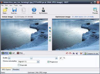 RIOT (โปรแกรม ปรับลดขนาดไฟล์รูป พร้อมแต่งรูปในตัว ใช้ฟรี) :