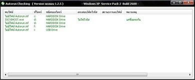 โปรแกรมสแกนไวรัสออโต้รัน Master PC Autorun Checking