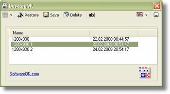 โปรแกรม จำตำแหน่ง Icon หน้าจอ DesktopOK