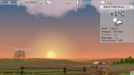 โปรแกรมพยากรณ์อากาศ YoWindow