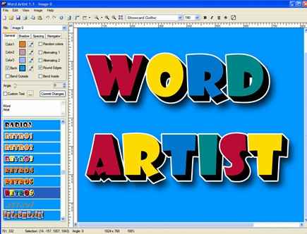 Word artist 2 2 Drawing images free download