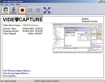 โปรแกรมอัดวีดีโอหน้าจอ SGS VideoCapture